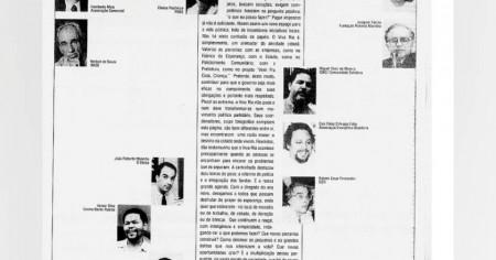 JORNAL DO BRASIL - 1995 - Caio Fábio entre os integrantes do Viva Rio.
