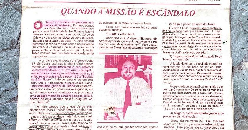 1º Informativo Mensal da AEVB - Associação Evangélica Brasileira - Inicio da década de 90.
